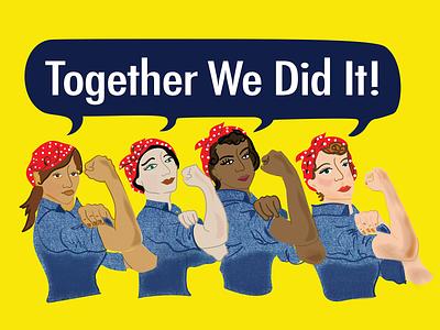 Rosie the Riveter illustration diversity illustration riveter rosie