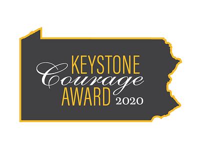 CeaseFirePA Keystone Courage Award 2020 logo typography award pennsylvania keystone logo design logotype nonprofit logo