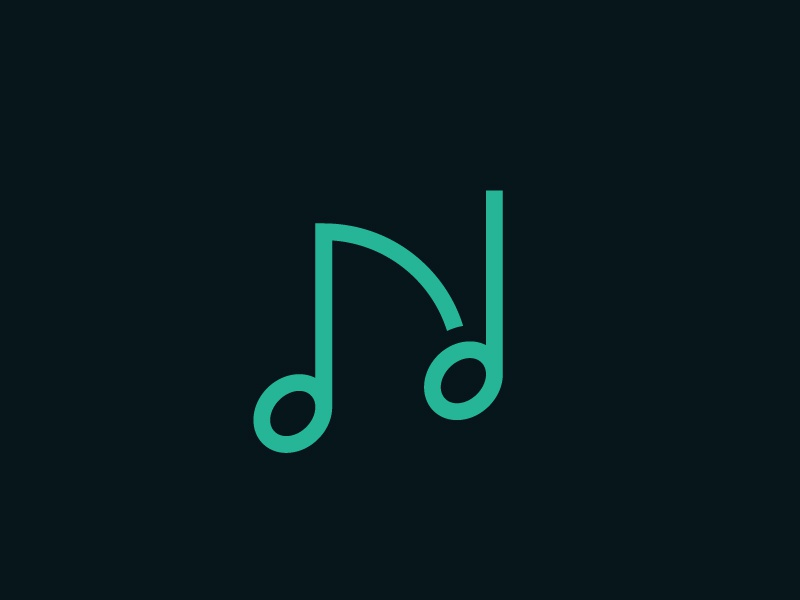 Note initial line music sound note n logo