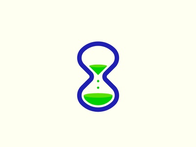 Hourglass clock time mark sandglass logo hourglass