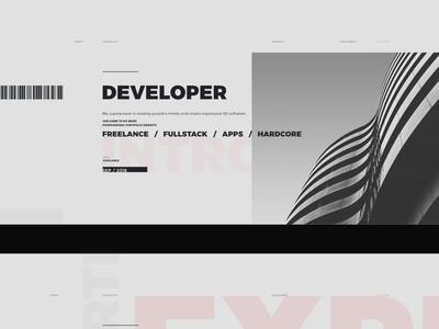 WIP Portfolio Website B 01 minimalism montserrat golden ratio grid print style ux design web design wip