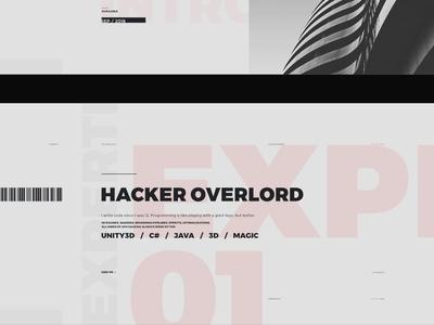 WIP Portfolio Website B 02 minimalism montserrat golden ratio grid print style ux design web design wip
