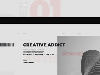 WIP Portfolio Website B 03 minimalism montserrat golden ratio grid print style ux design web design wip
