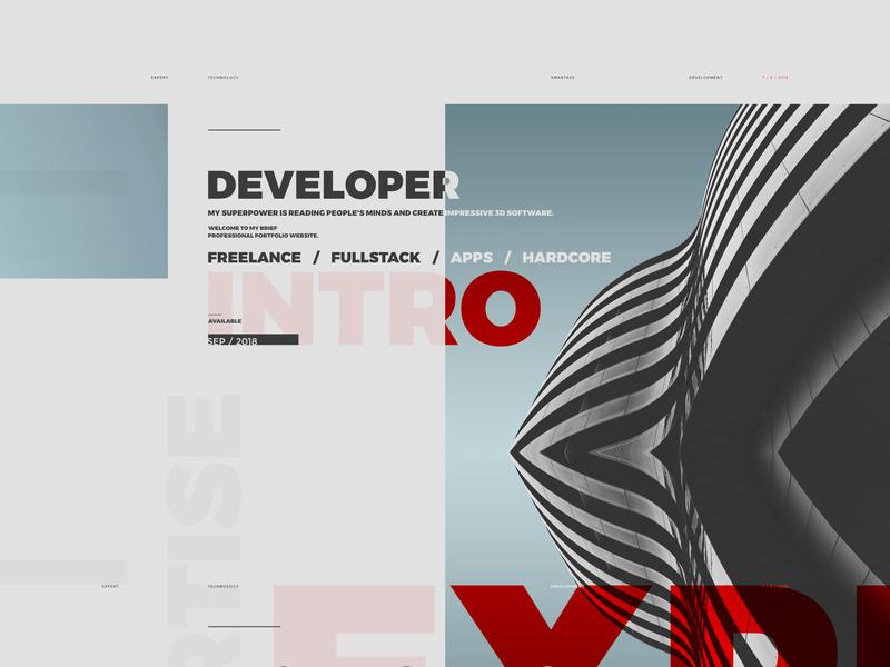 Portfolio Wip C 01 concept modern montserrat golden ratio work in progress web design
