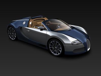 Vector illustration bugatti car illustrator