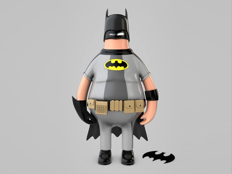 Bat Minio illustrator photoshop cinema4d