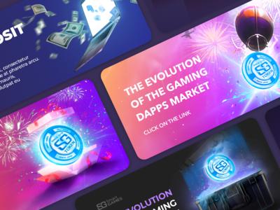 Web banner | Crypto game platform