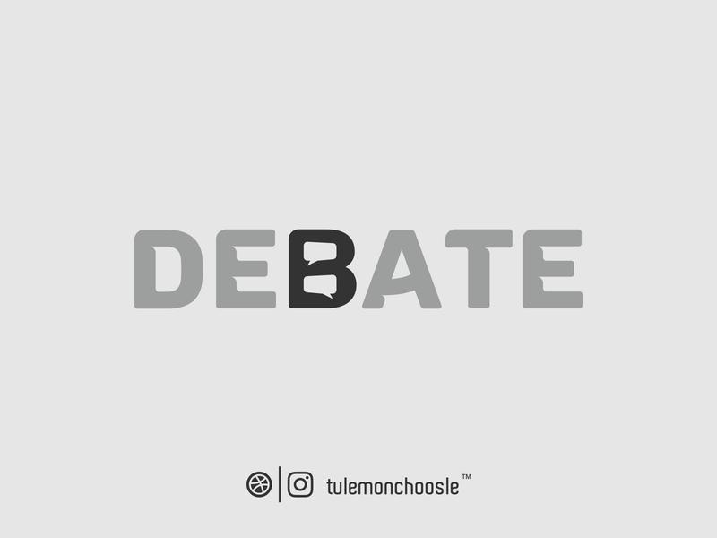 Debate Wordmark Logo