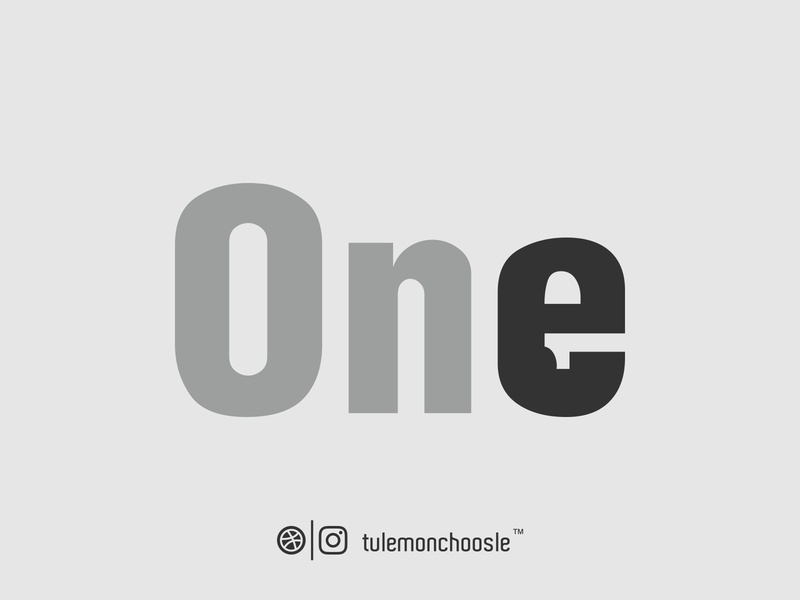 ONE (1) Wordmark Logo