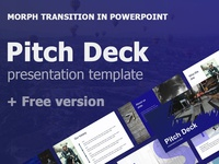 Pitch Deck presentation template + Free version graphics design box maps icons slide portfolio clean morph animated pitchdeck infographics illustration business best template presentation keynote powerpoint