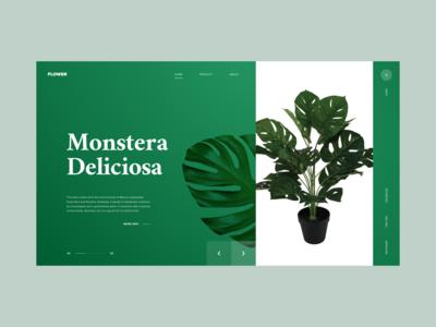 Flower e-commerce concept