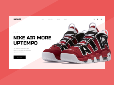Concept of online shoe store