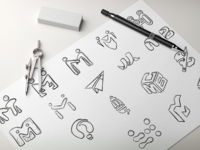 Logomark Exploration: MB Creative Logo Design