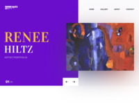 Artist Portfolio Landing Page Design
