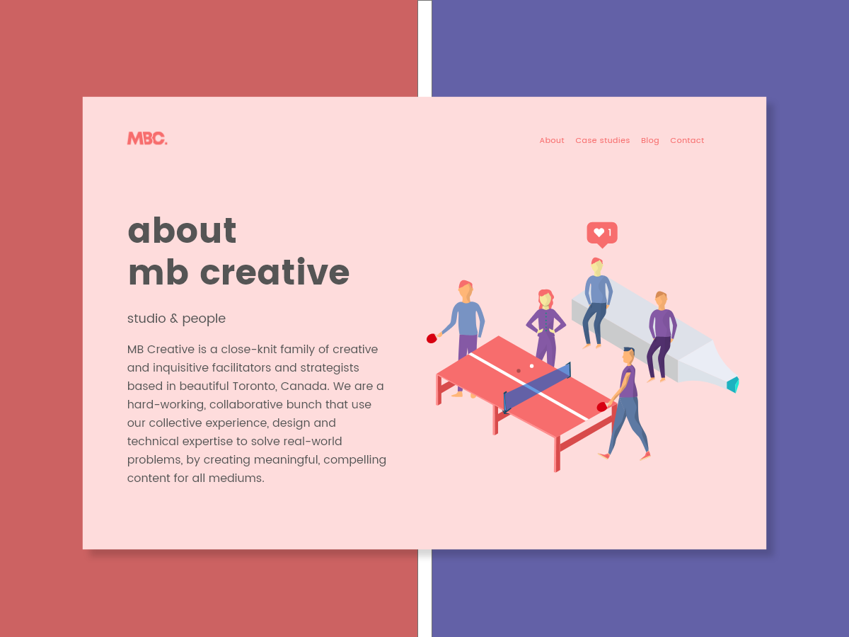 Mbc about aboutmbcreative dribbble