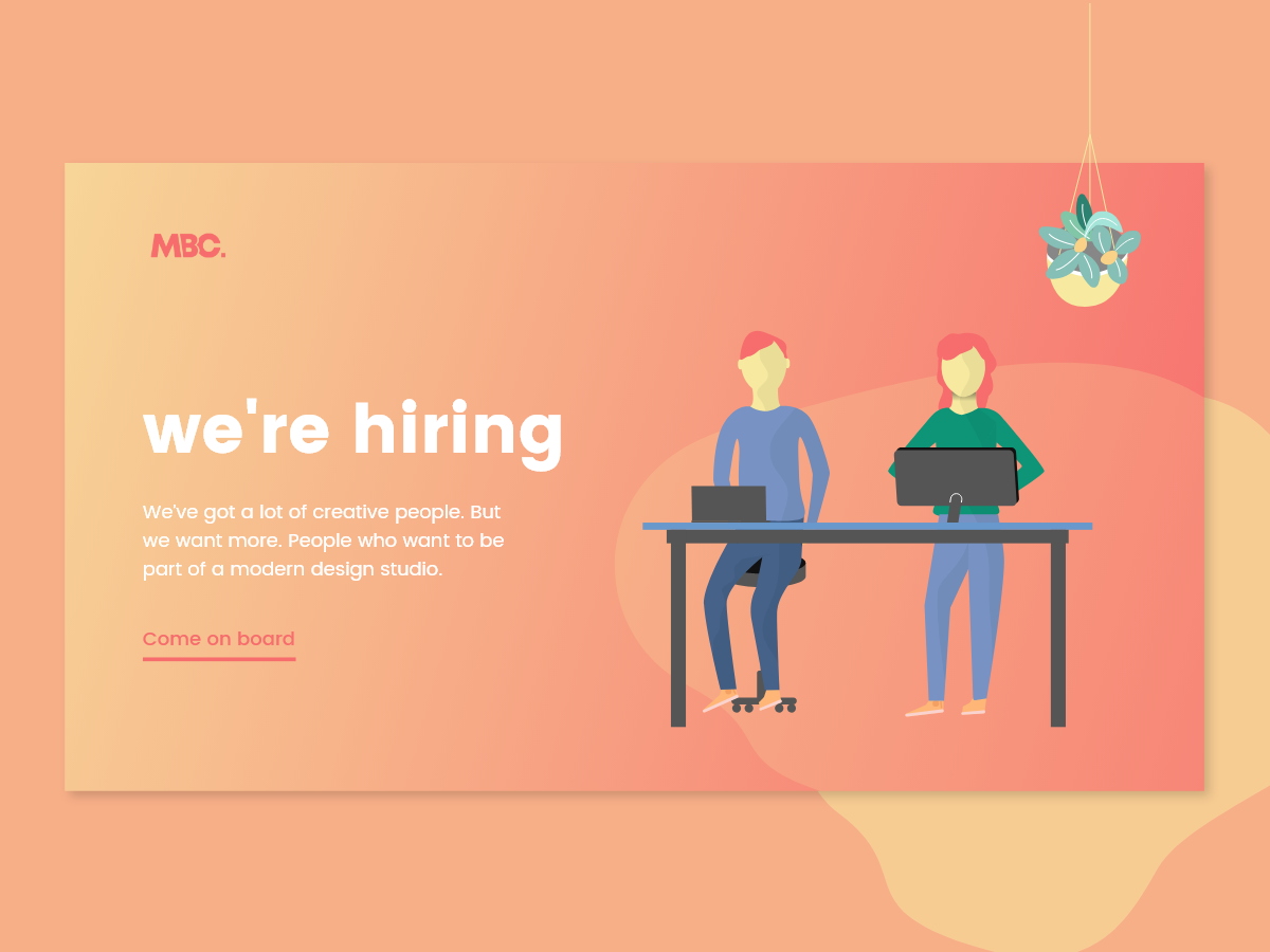 We Re Hiring Designers By Mb Creative On Dribbble
