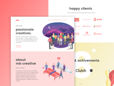 Team of Passionate Creatives: MBC About Us Landing Page Design