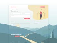 Landscape Illustration for Car Price Comparison App Contact Page