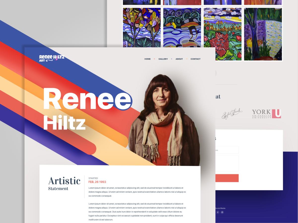 Mb Creative Projects Artist Portfolio Website Dribbble,Negative Space One Logo Design