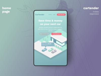 Mobile Responsive Design for Car Price Comparison Web App