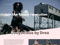 Join The Fitness Revolution Landing Page Concept 2