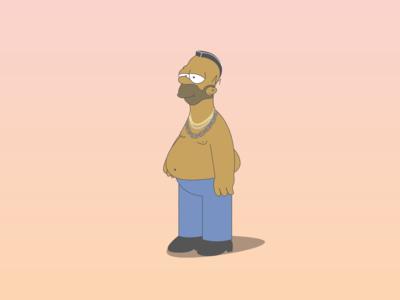 Homer Simpson x B.A Baracus - Mr. T