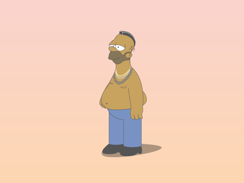 Homer Simpson x B.A Baracus - Mr. T celebrity television animation graphicdesign graphic design vector concept parody mr. t homer simpson cartoon illustration cartoon character art adobe designer creative design cartoon illustration simpsons