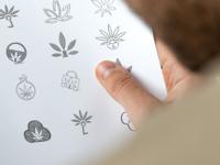Marijuana Tamper Evident Packaging Logo Exploration Sketches