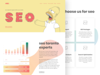 SEO Landing Page for MB Creative Brand Website - Toronto SEO