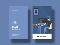 MB Creative Blue Business Cards