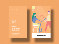 MB Creative Orange Business Cards