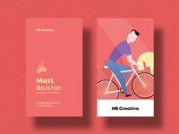 MB Creative Red Business Cards
