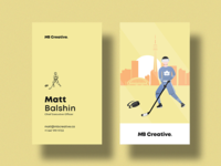 MB Creative Yellow Business Card
