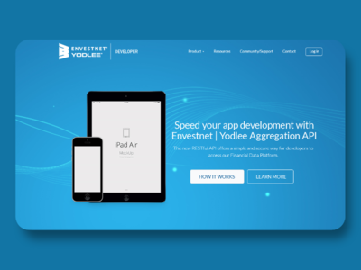 Developer API Landing Page Design Concepts