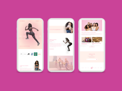 Mobile Responsive Home Page for Fitness Influencer Website