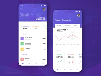 Finance App UI Concept Free Download wallet analytics wallet app ux ui design free download uikit analytics app