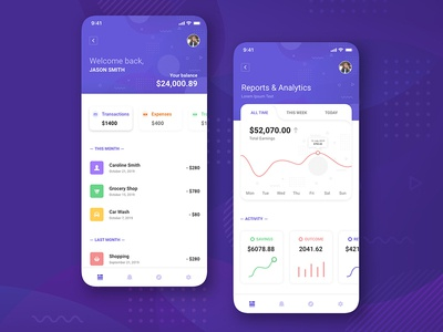 Finance App UI Concept Free Download