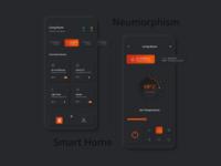 Smart Home - Dark Neumorphism Soft UI Design