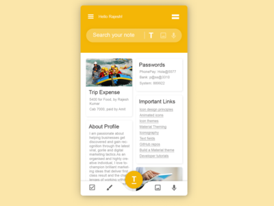 Google Keep Notes Mobile App Redesign