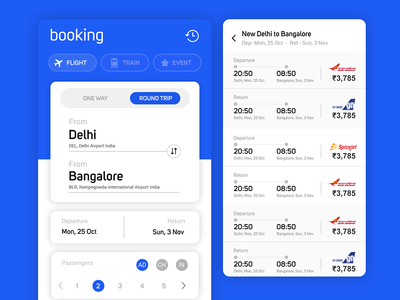 Ticket booking mobile app