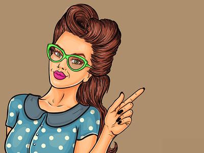 Girls Illstration comic art adobe photoshop illustration illustration vector design