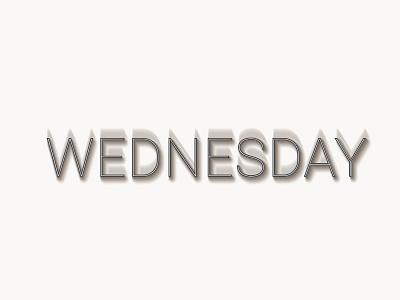 Shadow Wednesday vector illustration typography design