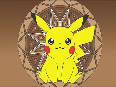 Pikachu comic kid artworks art gradient cartoon pokemon pikachu graphic design graphics vector design adobe photoshop illustration