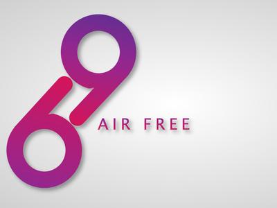 Air Free.Music app And Website gradient lettering ios minimal website type app web flat ux icon logo ui photoshop typography art artworks vector illustration design