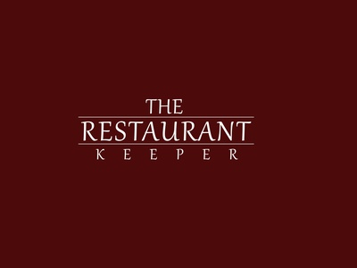 The Restaurant Keeper research desent cook food hotels restaurant branding typography graphics logo vector illustration design