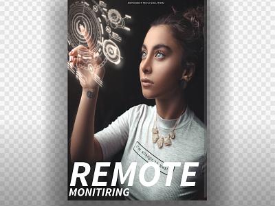Remote monitiring photoshop logo graphics design graphics graphic design artworks adobe photoshop illustration branding typography vector adobe photoshop illustration design