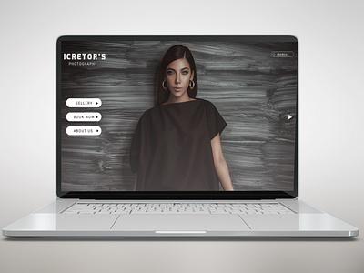 web page simple webpage website web ui ux graphics typography adobe photoshop branding illustration design