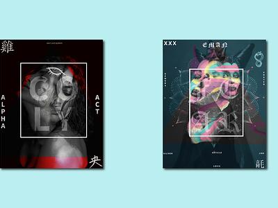 trend art gradient graphics app album cover design music alphabet girls album art adobe photoshop artworks graphic design design illustration