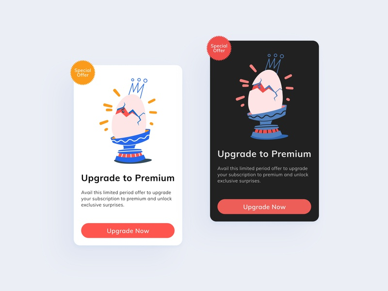 Special Offer DailyUI #036 light ui dark ui popup card 036 special offer premium upgrade interaction interface simple app adobexd uidesign dailyuichallenge concept ux ui dailyui design