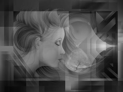 Facing the past adobe illustrator design gestalt poster art painting geometric art artdeco art deco vector graphic vector art